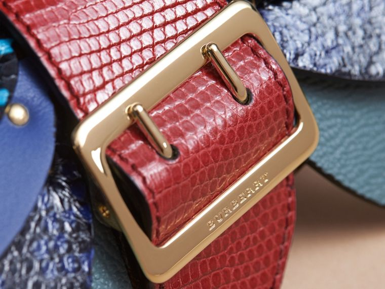 Snakeskin and Leather Appliqué Card Case in Bright Toffee - Women | Burberry - cell image 1