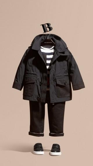 Showerproof Jacket with Detachable Hood