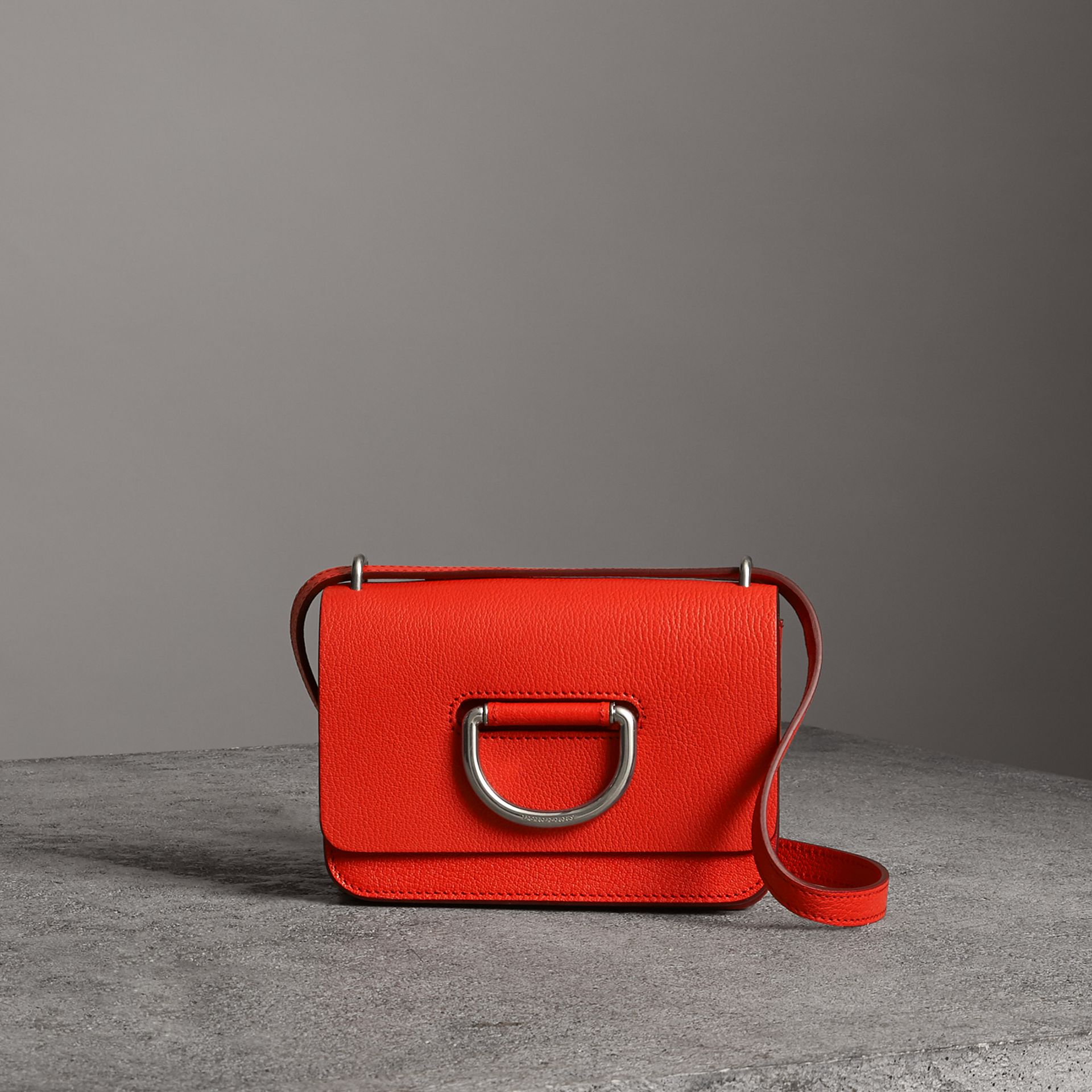 The Mini Leather D-ring Bag in Bright Red - Women | Burberry Australia - gallery image 0