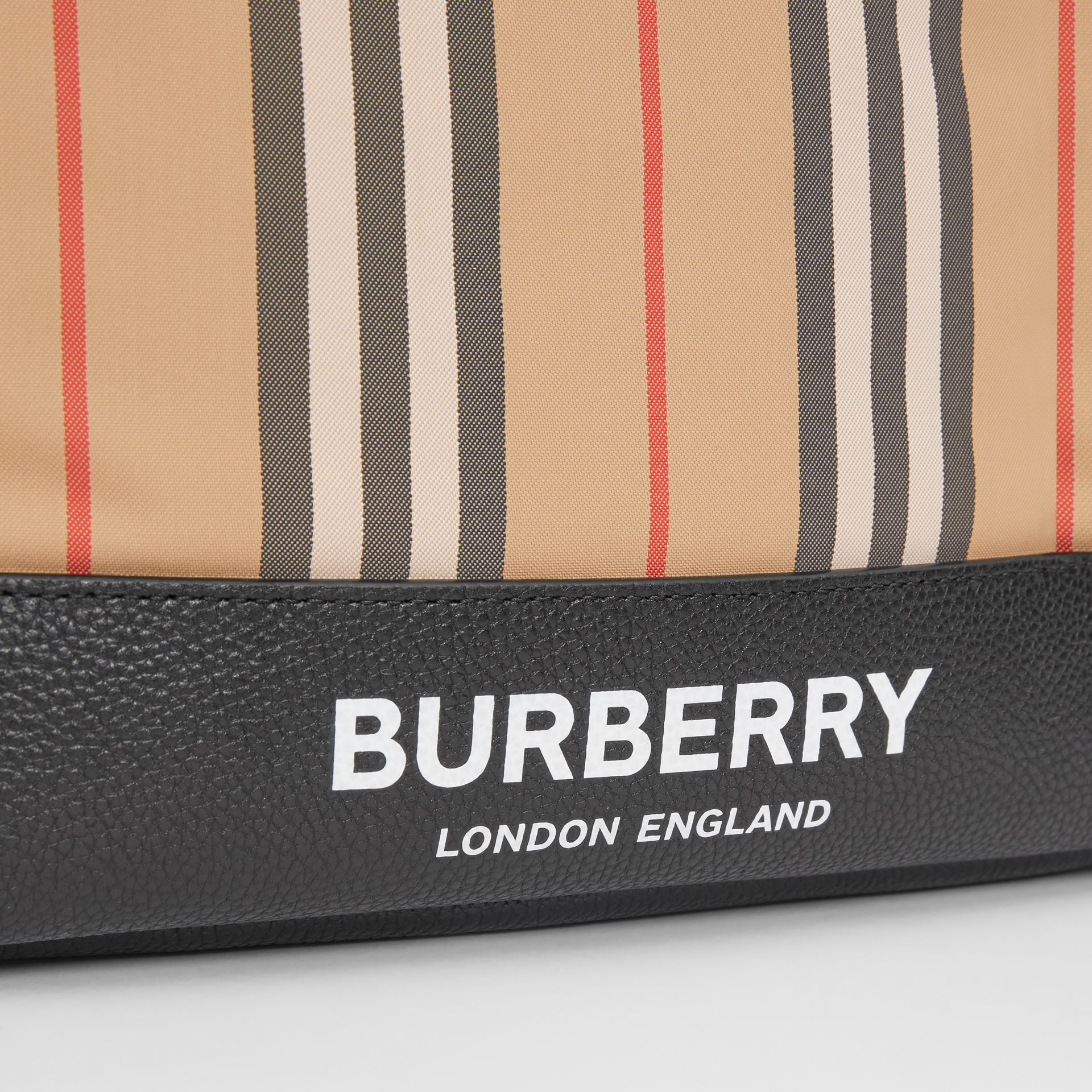 Icon Stripe Nylon Backpack in Archive Beige - Children | Burberry Canada - gallery image 1