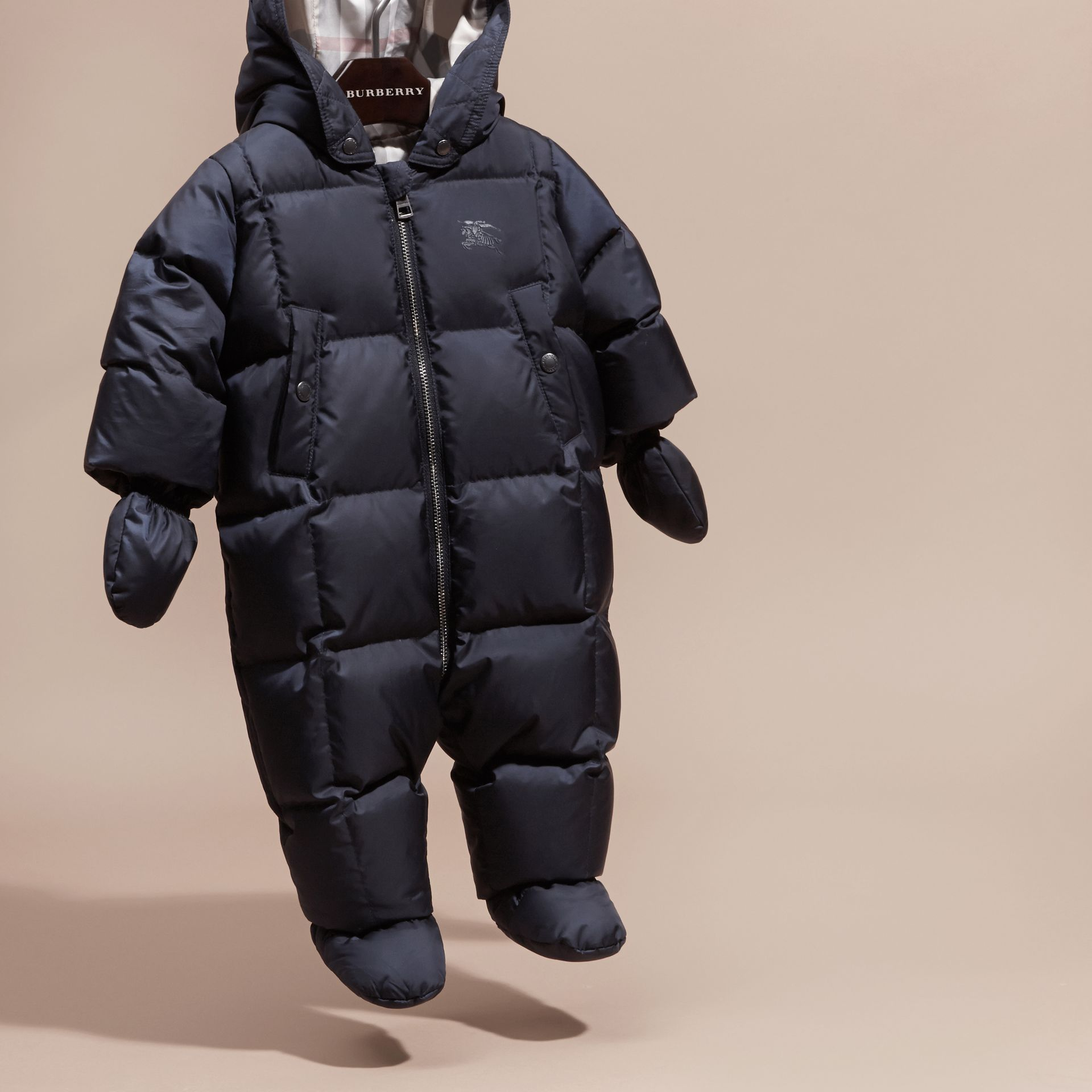 Down-filled Puffer Suit in Navy - gallery image 3