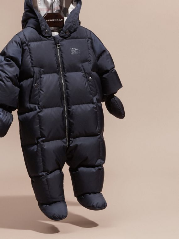 Down-filled Puffer Suit in Navy - cell image 2