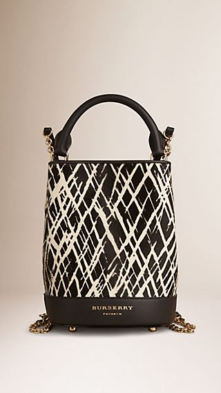 The Bucket Backpack in Animal Print Calfskin