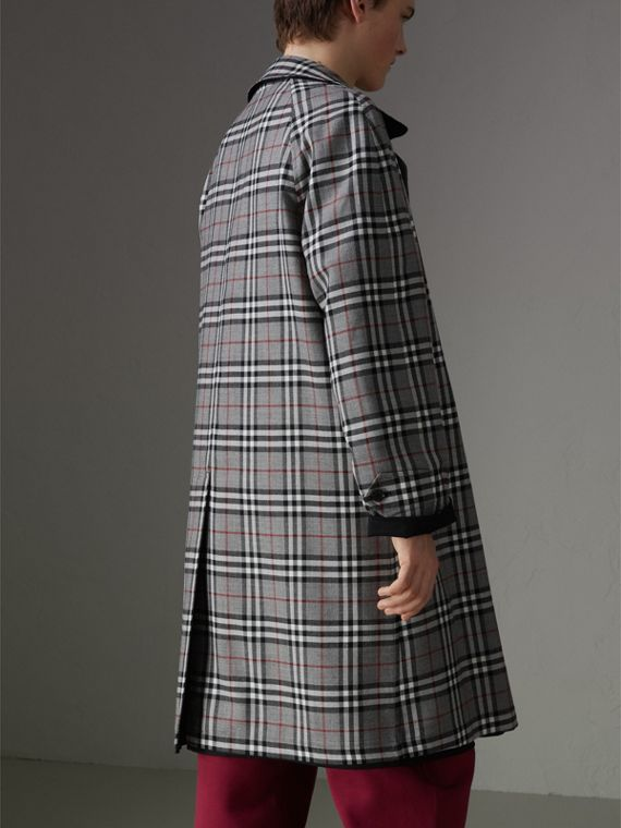 Reissued Reversible Car Coat in Black - Men | Burberry United Kingdom - cell image 2