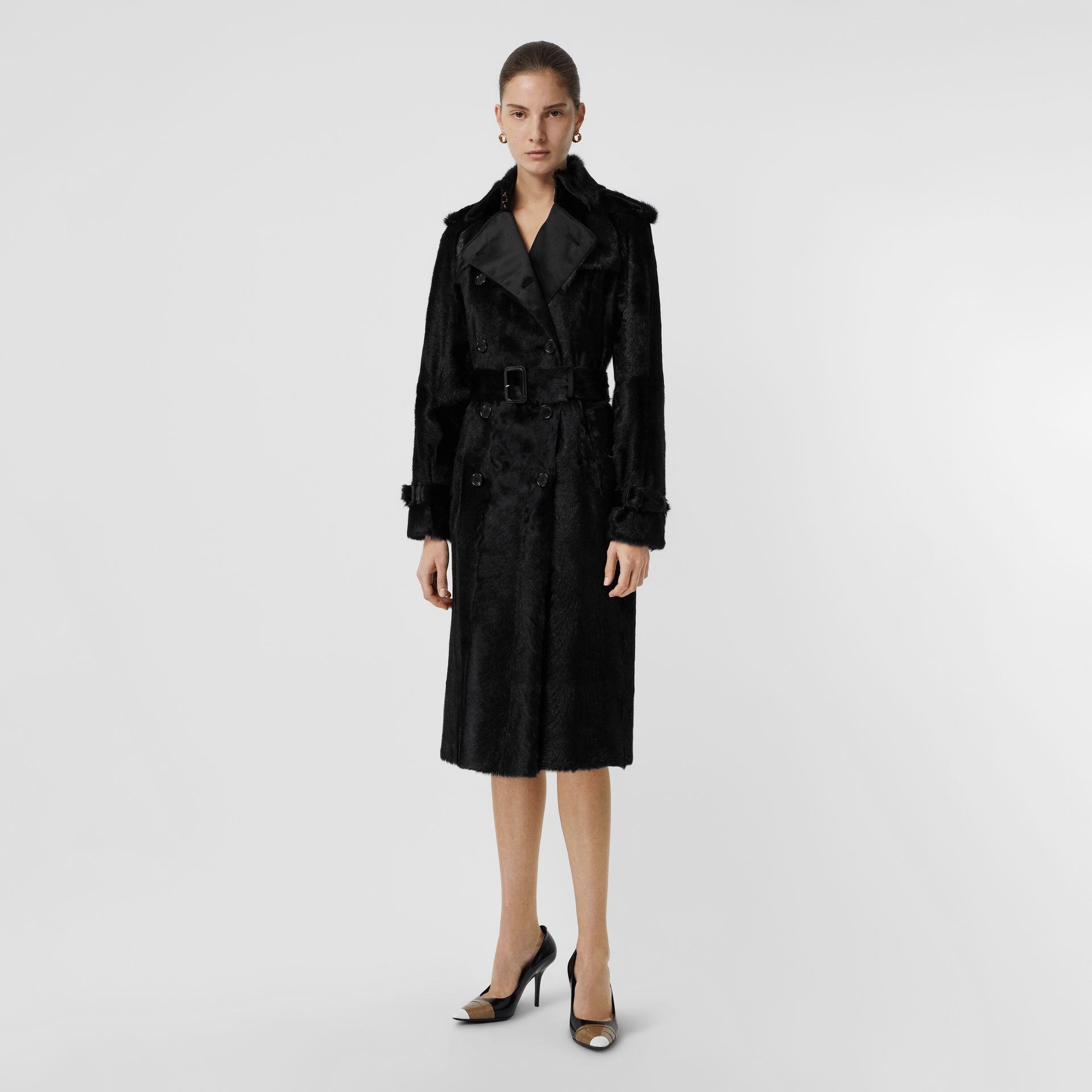 Goat Trench Coat in Black - Women | Burberry - gallery image 0
