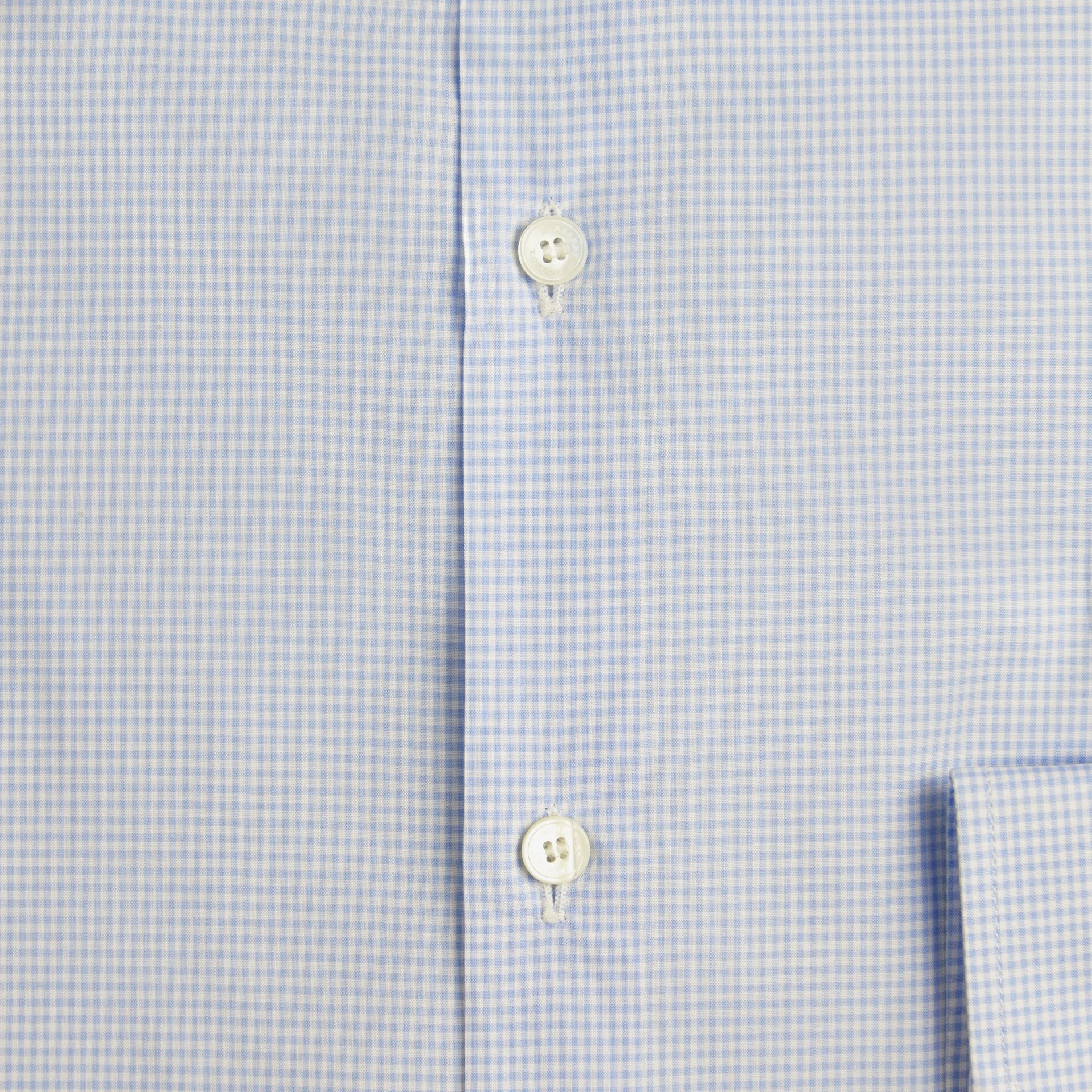 Slim Fit Gingham Cotton Poplin Shirt in City Blue - gallery image 2
