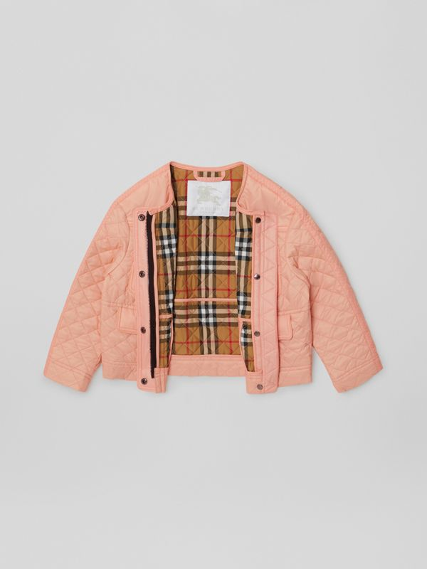 Lightweight Diamond Quilted Jacket in Apricot Pink | Burberry - cell image 2