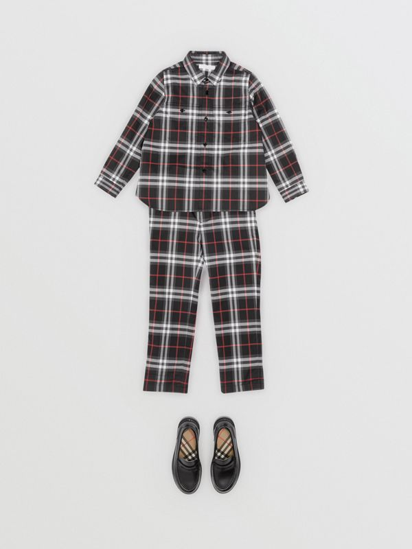 Vintage Check Cotton Shirt in Black - Boy | Burberry Hong Kong - cell image 2
