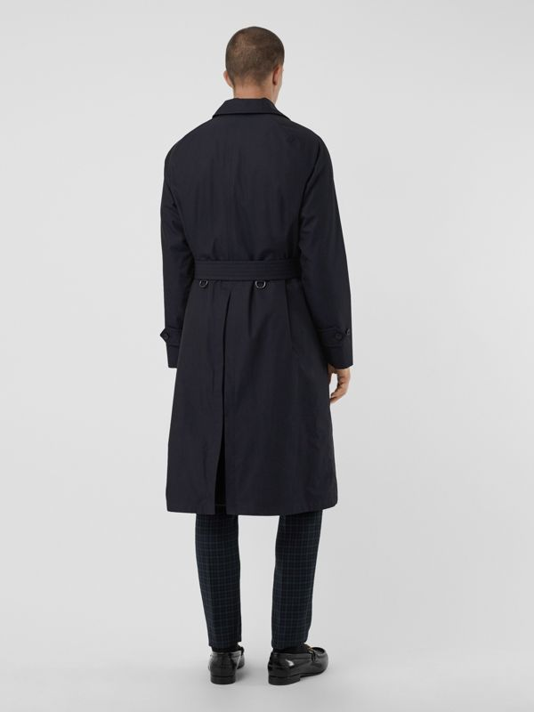 Quilt-lined Tropical Gabardine Belted Car Coat in Blue Carbon - Men | Burberry Singapore - cell image 2