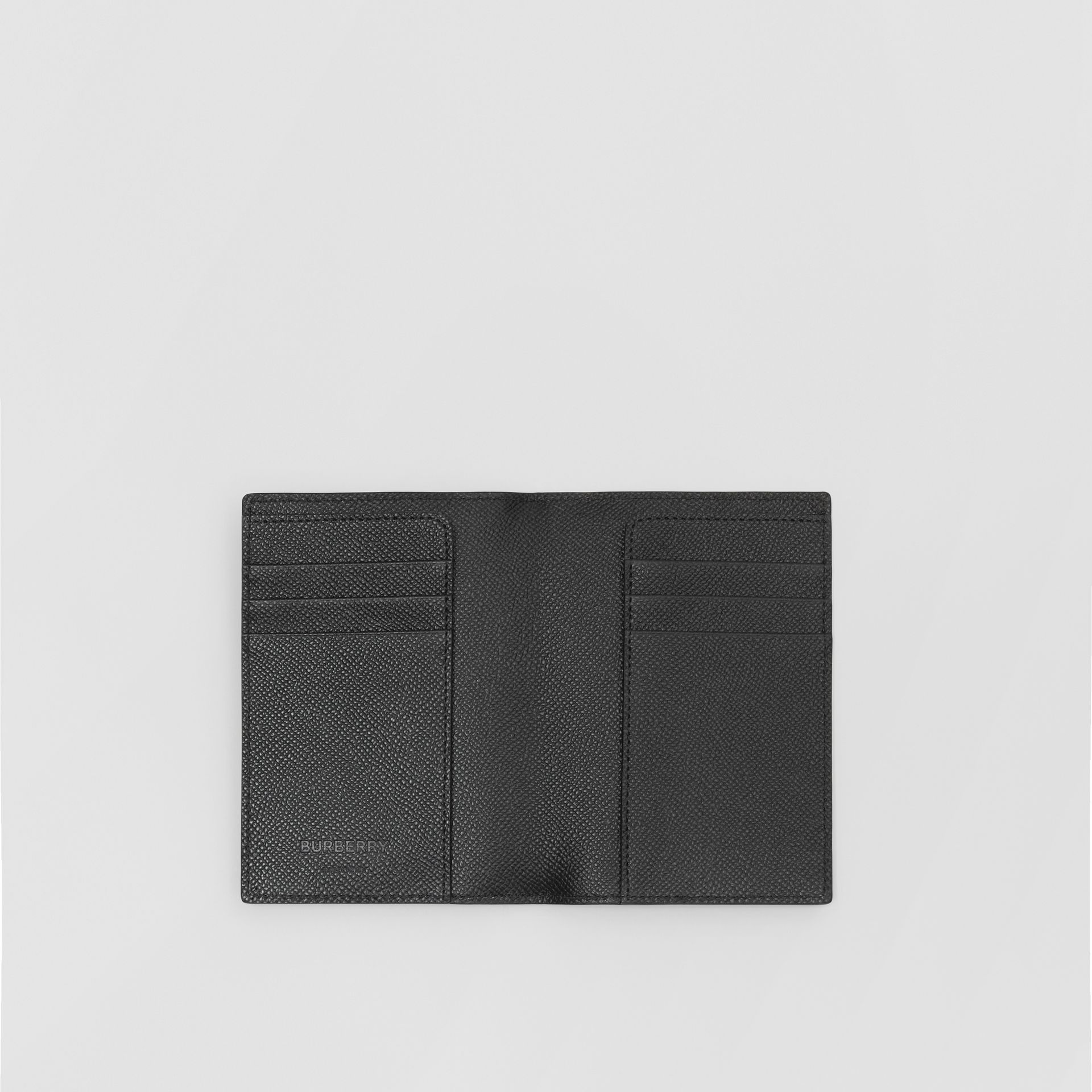 Grainy Leather Passport Holder in Black - Men | Burberry United States - gallery image 2