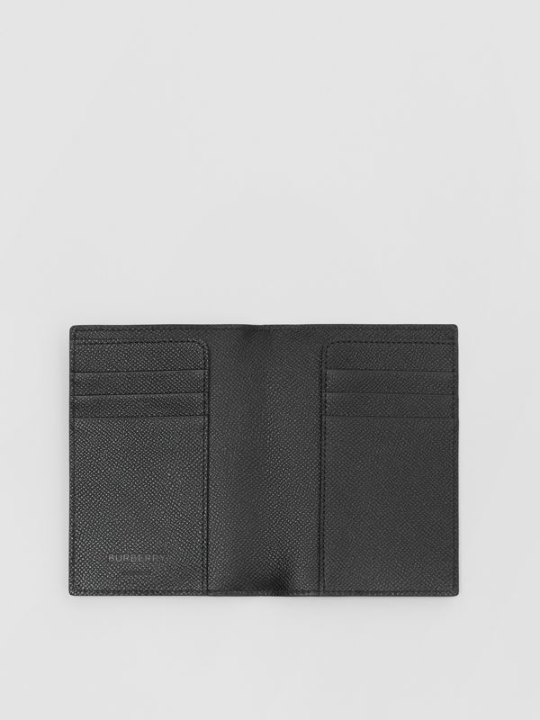 Grainy Leather Passport Holder in Black - Men | Burberry United States - cell image 2