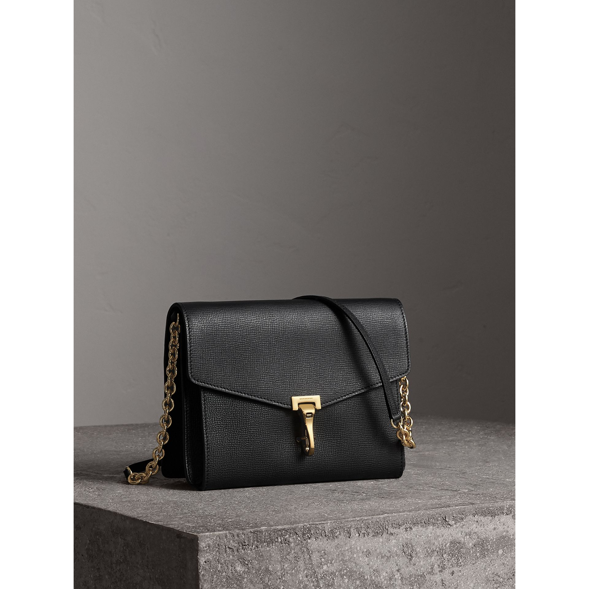 Small Leather Crossbody Bag in Black - Women | Burberry - gallery image 7