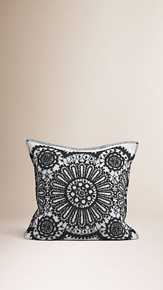Lace Jacquard Wool Cashmere Cushion Cover