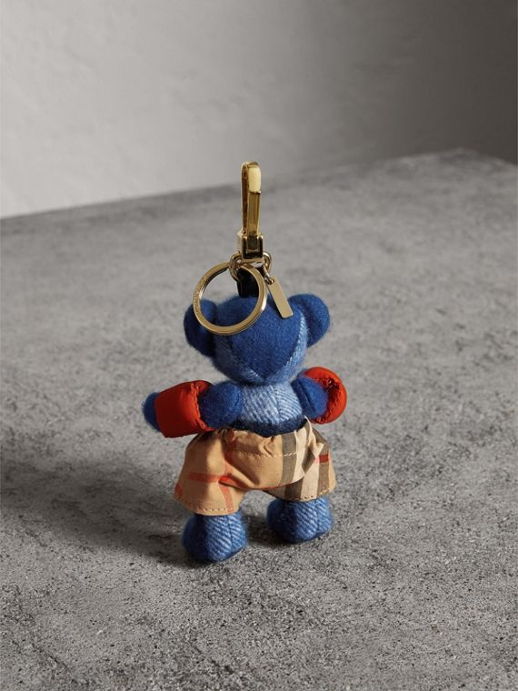 Thomas Bear Charm with Beachwear Detail in Cadet Blue | Burberry - cell image 3