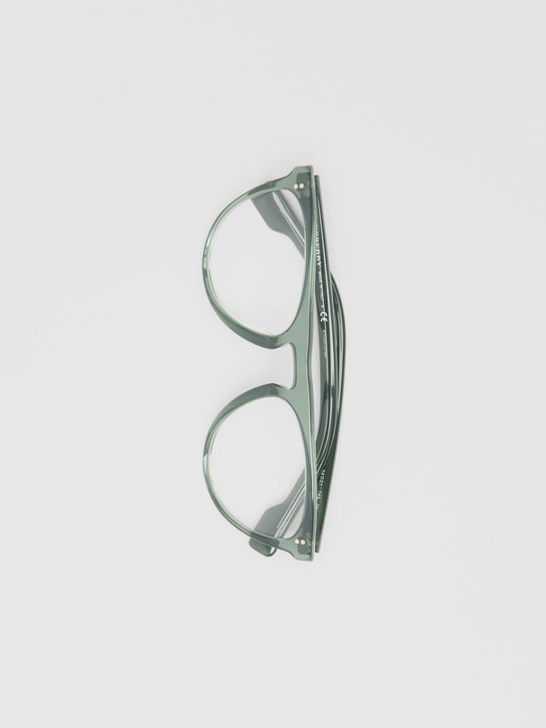 Keyhole D-shaped Optical Frames in Green - Men | Burberry - cell image 3
