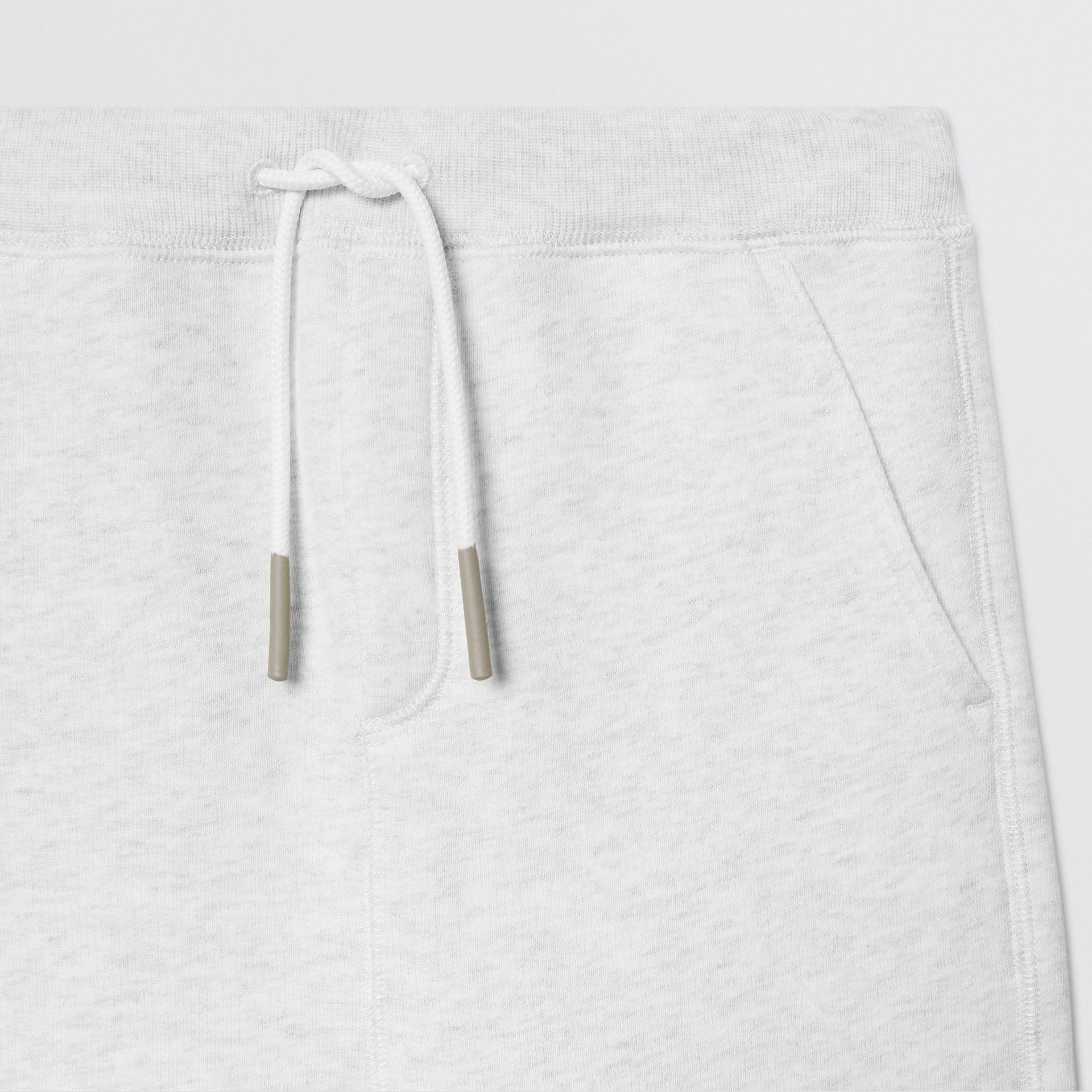 Logo Detail Jersey Trackpants in White Melange | Burberry United States - gallery image 5