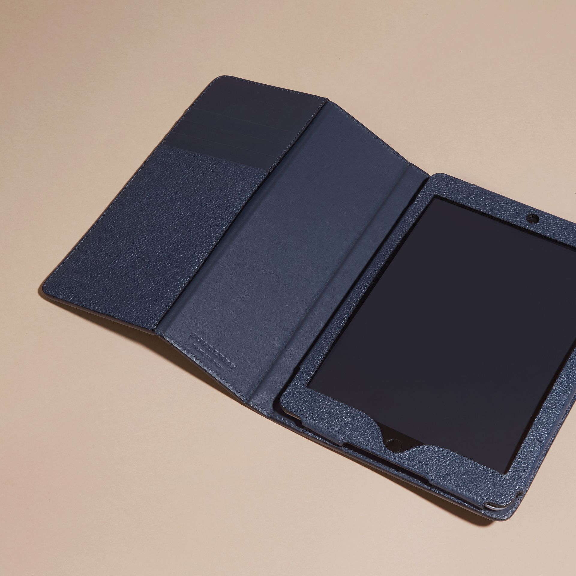 Bright navy Grainy Leather iPad Case Bright Navy - gallery image 3
