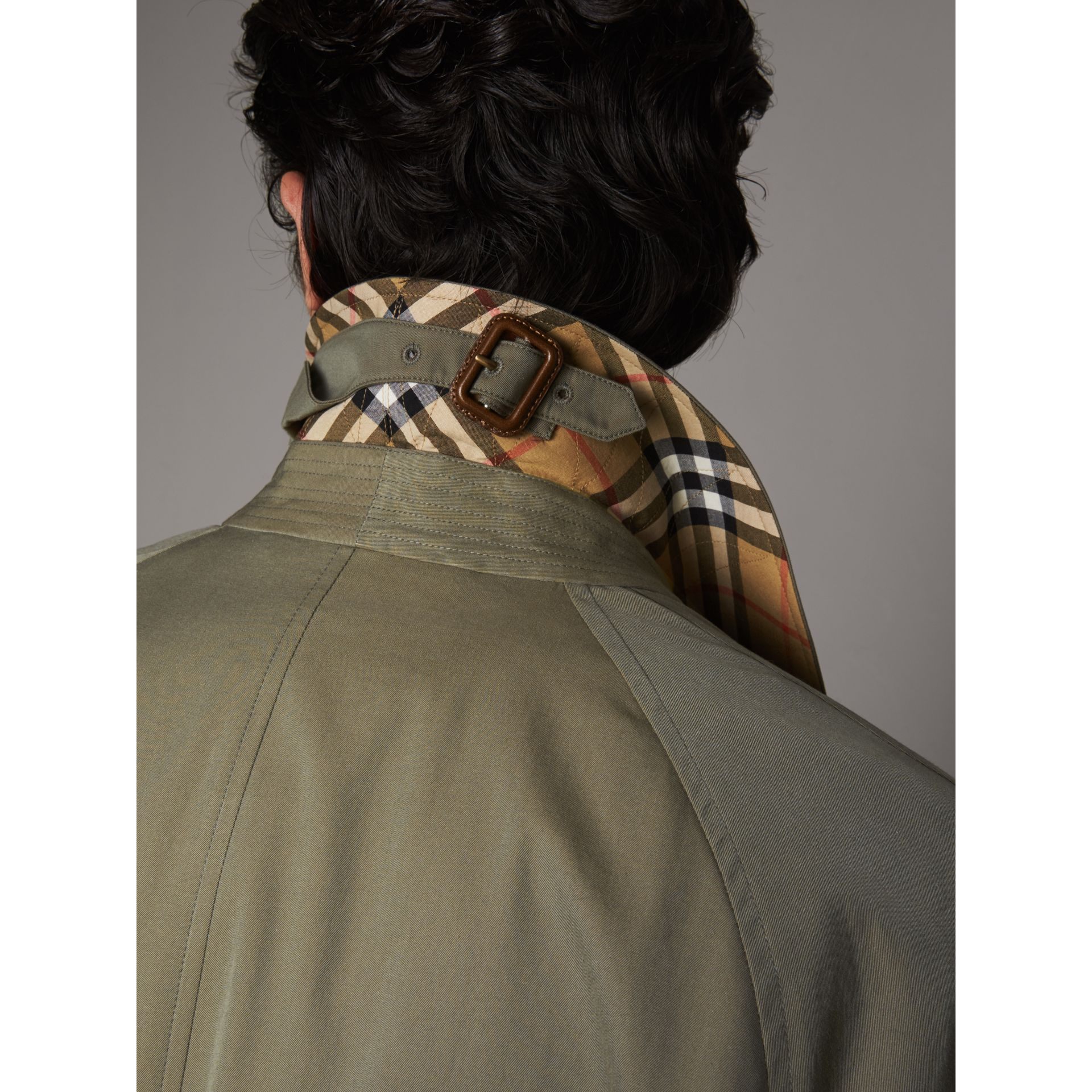 The Brighton Car Coat in Chalk Green - Men | Burberry Singapore - gallery image 1