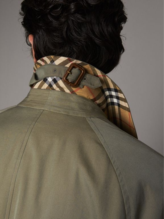 The Brighton Car Coat in Chalk Green - Men | Burberry United States - cell image 1