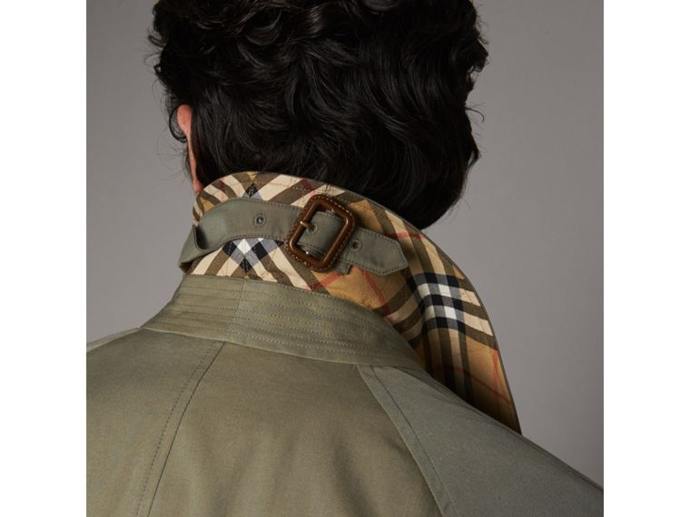 The Brighton – Car Coat extralongo (Verde Giz) - Homens | Burberry - cell image 1