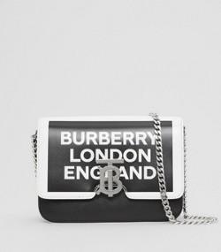 3a9f431b97 Petit sac TB en cuir avec logo (Noir/blanc)
