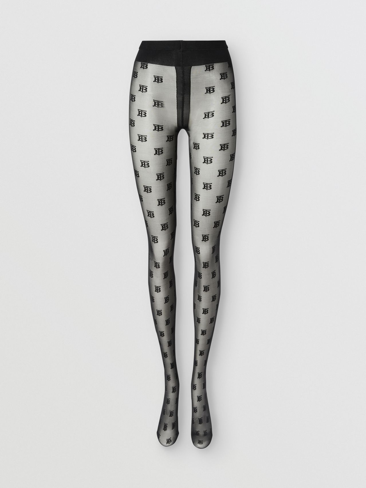 Collants Monogram in Noir