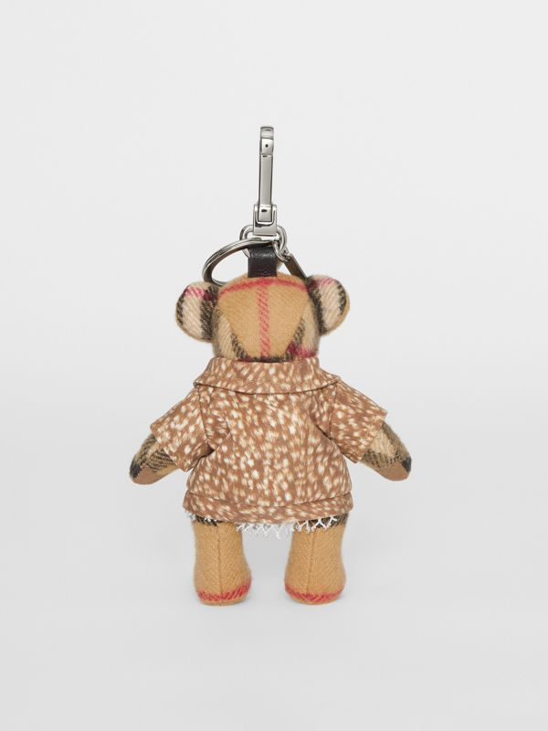 Thomas Bear Charm in Deer Print Coat in Antique Yellow | Burberry - cell image 3