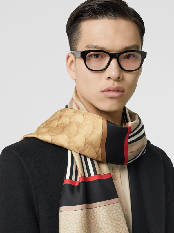 Montage Print Silk Scarf in Archive Beige | Burberry - cell image 3