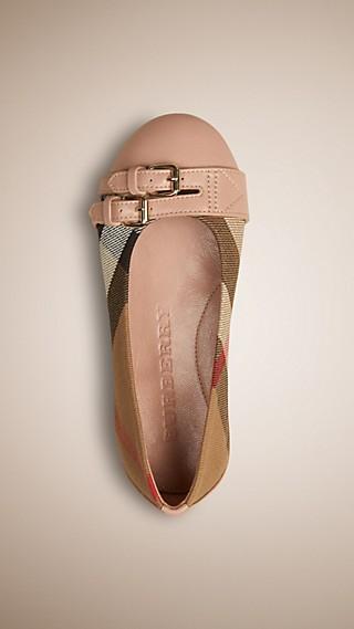 Belt Detail House Check Ballerinas