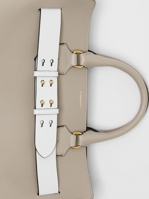 The Large Leather Belt Bag in Mineral Grey | Burberry Singapore - cell image 1