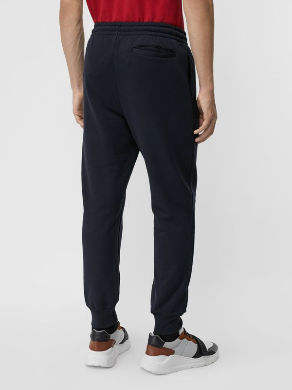 Chequer EKD Cotton Trackpants in Navy - Men | Burberry Canada - cell image 2