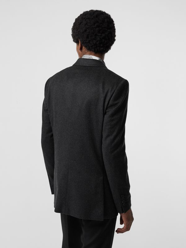 Classic Fit Cashmere Tailored Jacket in Dark Grey Melange - Men | Burberry - cell image 2