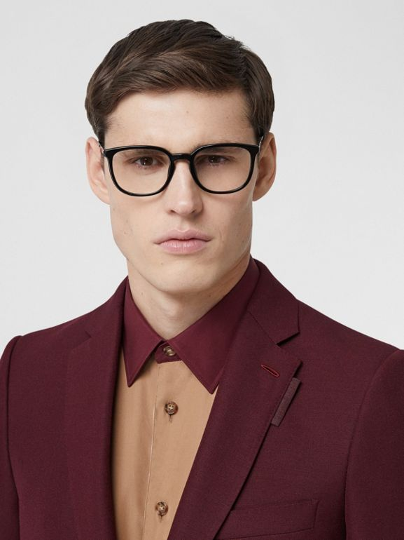 English Fit Wool Mohair Tailored Jacket in Deep Burgundy - Men | Burberry United States - cell image 1