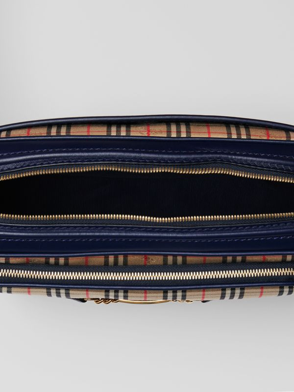 The Large 1983 Check Link Camera Bag in Ink Blue - Men | Burberry United States - cell image 3