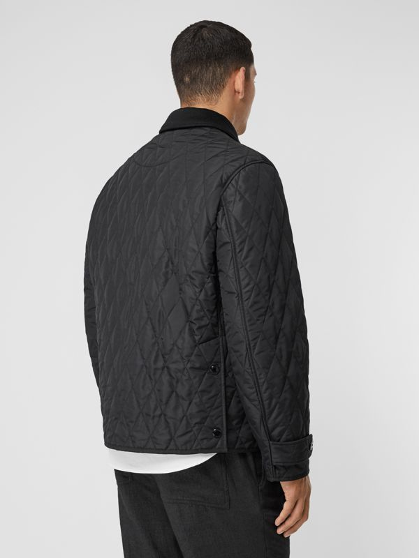 Diamond Quilted Jacket with Warmer in Black - Men | Burberry United Kingdom - cell image 2