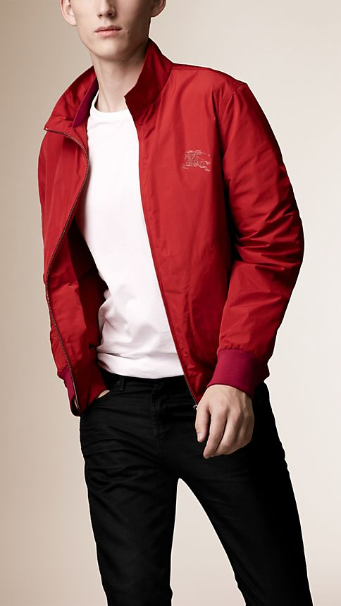 Military red Zip Front Packaway Blouson - Image 1