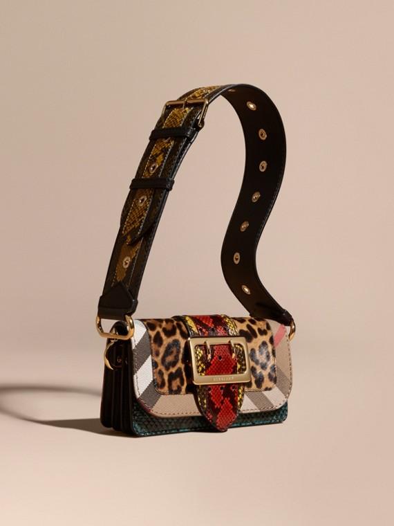 The Patchwork aus Kalbfell mit Leopardenmuster und Natternleder