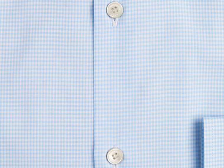 Modern Fit Gingham Cotton Poplin Shirt City Blue - cell image 1