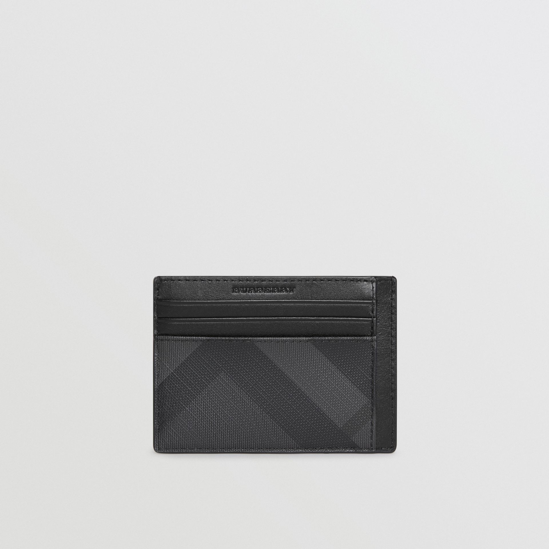 London Check Card Case in Charcoal/black - Men | Burberry United Kingdom - gallery image 5