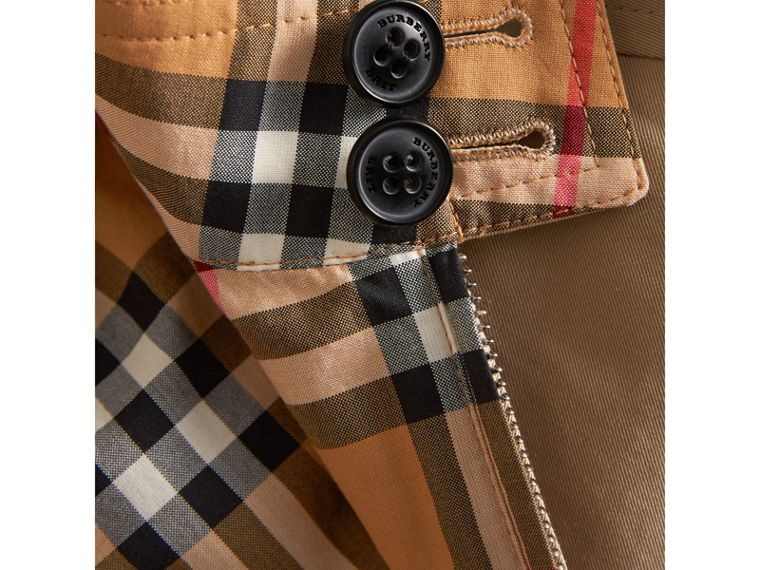 Jaqueta Harrington dupla face de gabardine com estampa Vintage Check (Amarelo Antigo) | Burberry - cell image 1