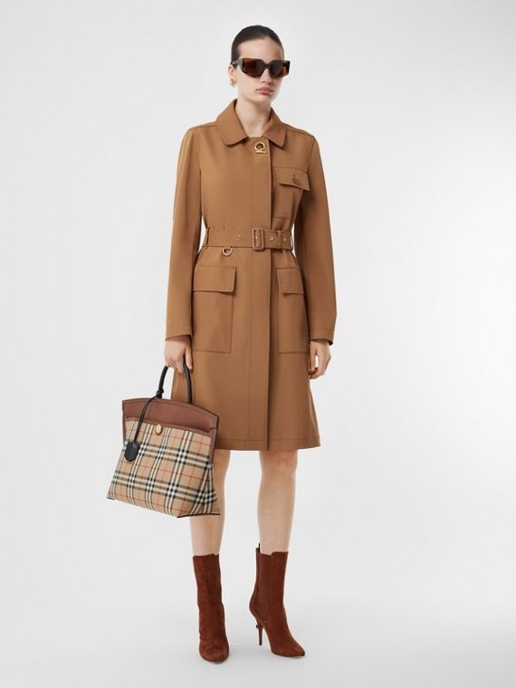 Technical Twill Coat in Camel
