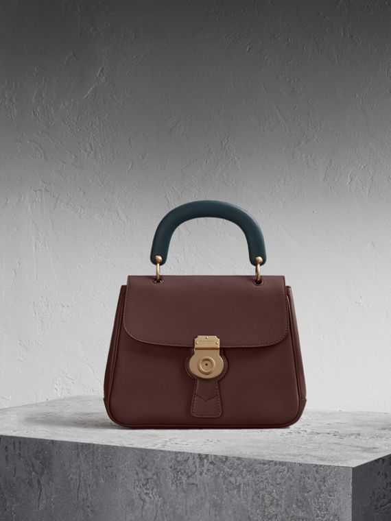 The Medium DK88 Top Handle Bag Dark Chocolate