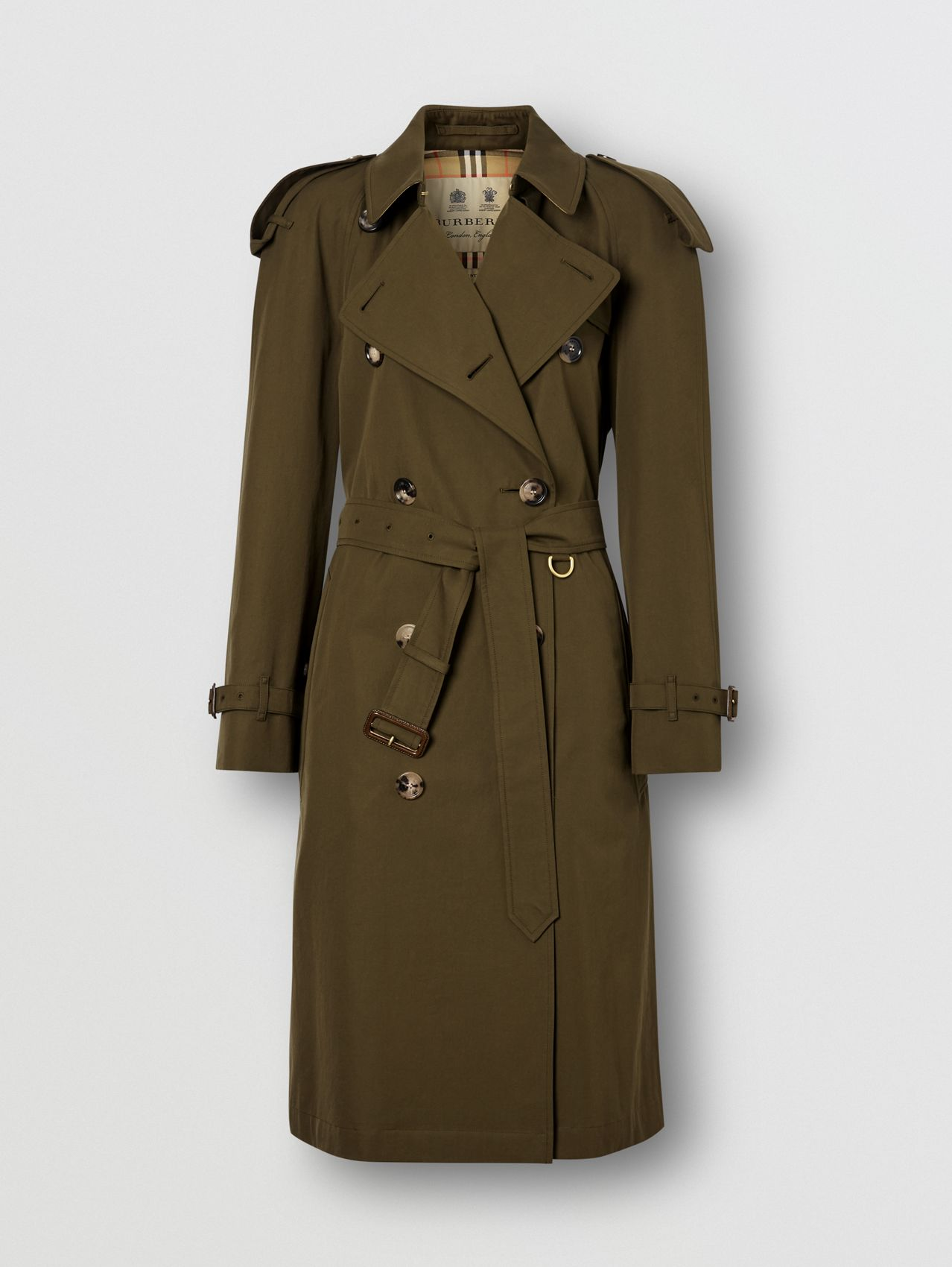 The Mid-length Westminster Heritage Trench Coat (Dark Military Khaki)