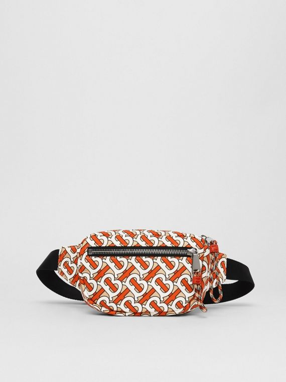 Small Monogram Print Bum Bag in Vermillion