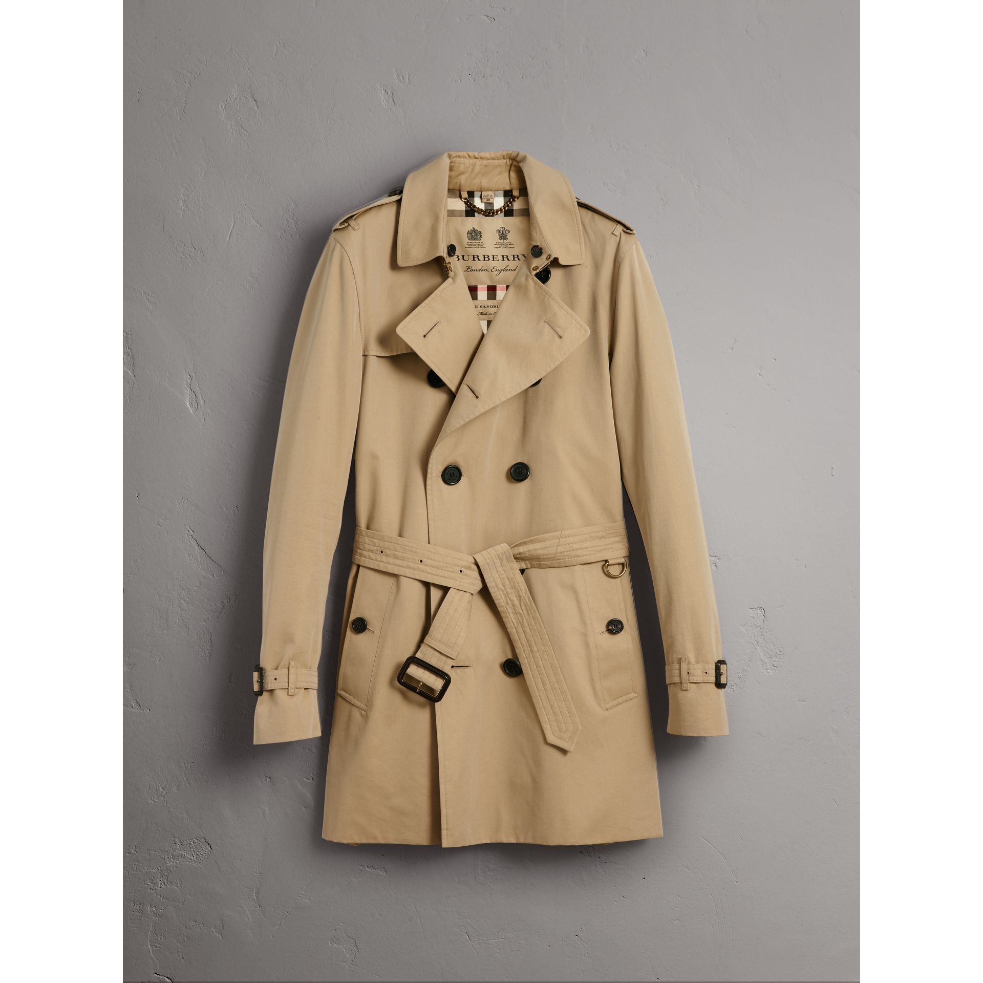 The Kensington – Trench Heritage mi-long (Miel) - Homme | Burberry - photo de la galerie 4