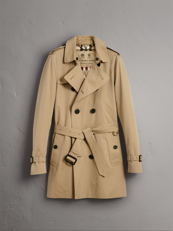 The Kensington – Mid-Length Heritage Trench Coat in Honey - Men | Burberry Hong Kong - cell image 3