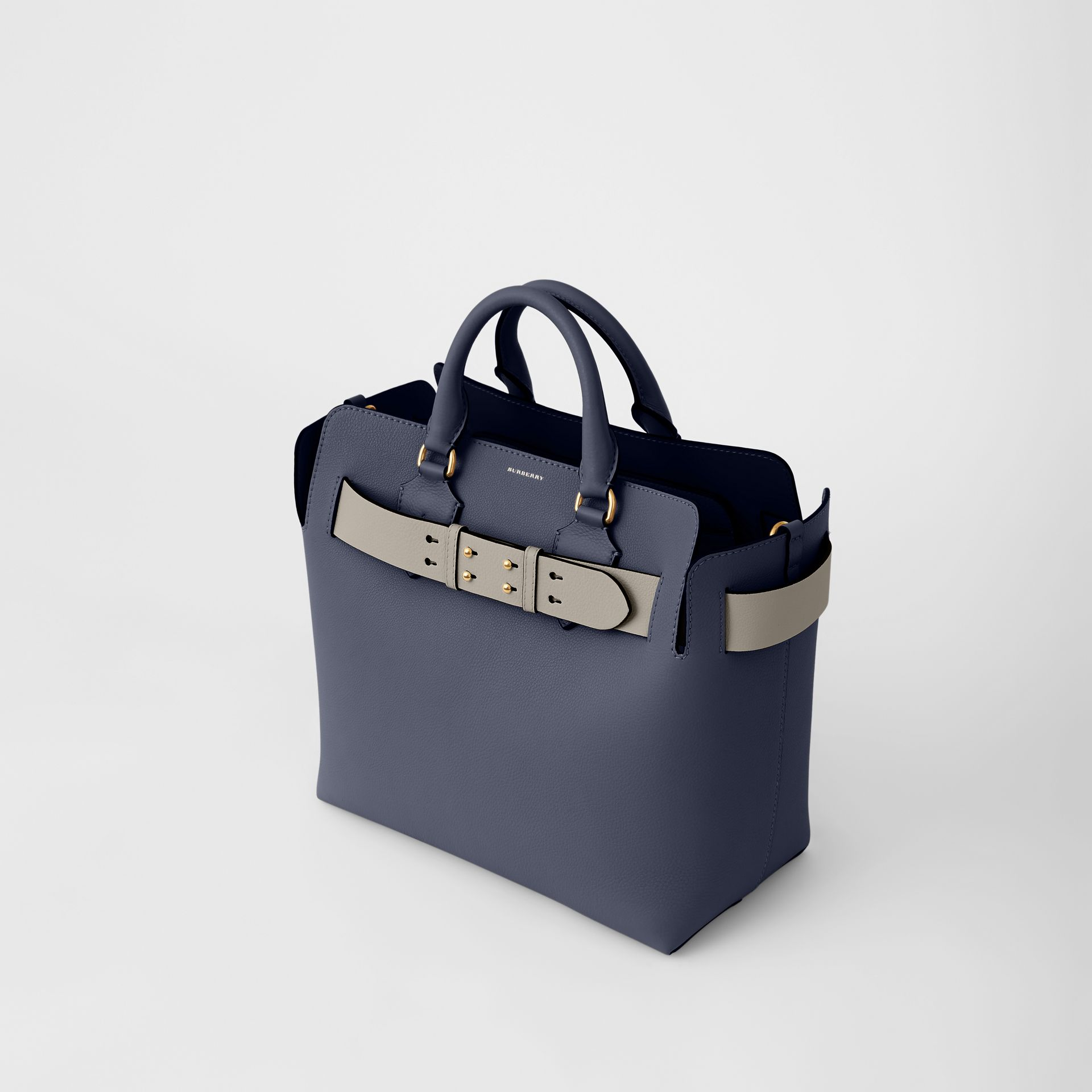 The Medium Leather Belt Bag in Regency Blue - Women | Burberry - gallery image 2