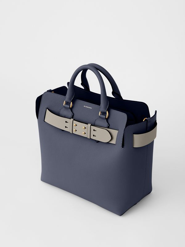 The Medium Leather Belt Bag in Regency Blue - Women | Burberry United States - cell image 2