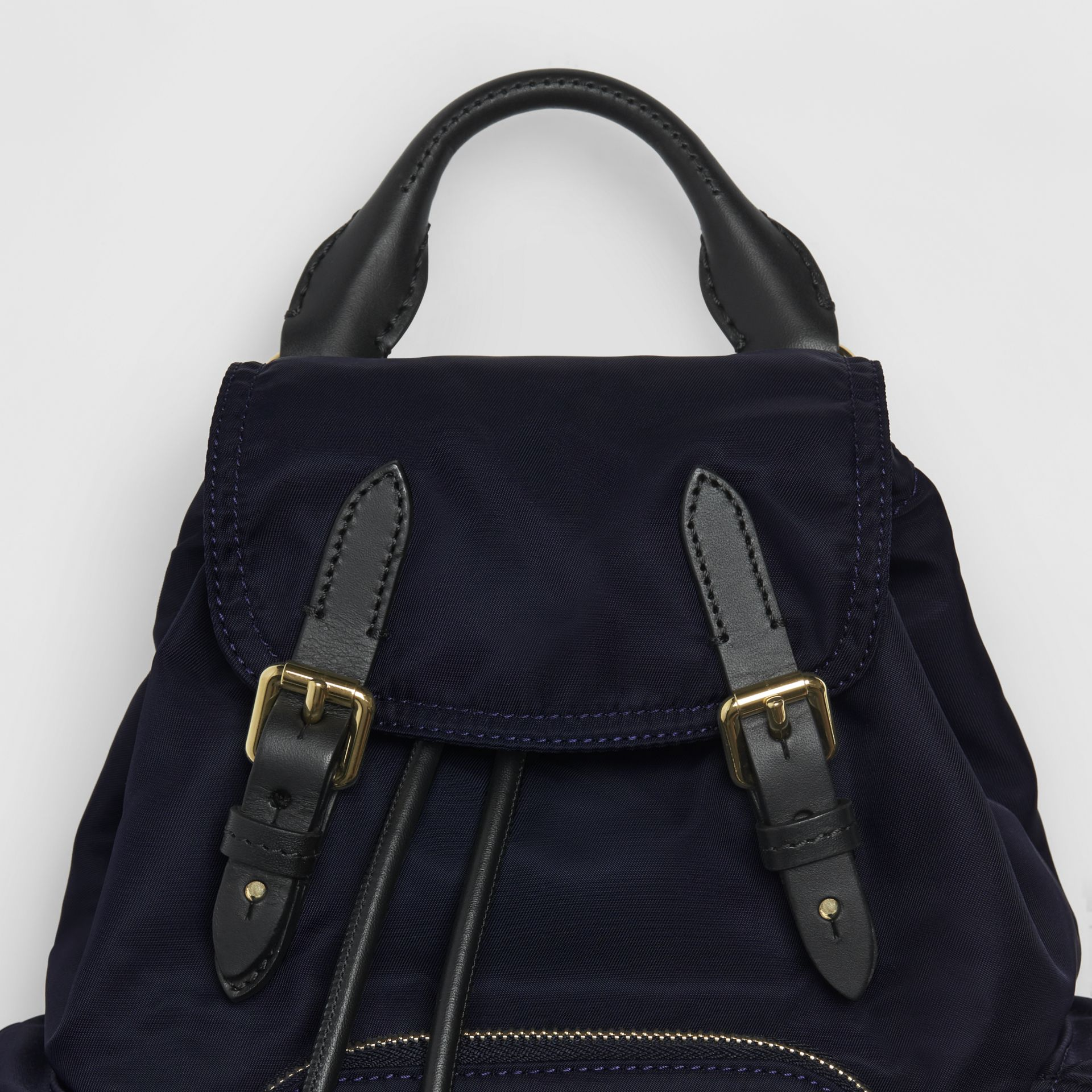 The Small Crossbody Rucksack in Nylon in Ink Blue - Women | Burberry Hong Kong - gallery image 1