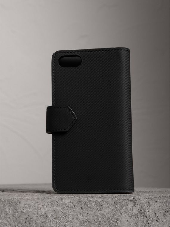 Trench Leather iPhone 7 Case in Black - Men | Burberry - cell image 2